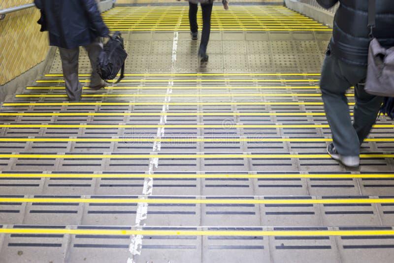 trappa i den chiba stationen arkivbilder
