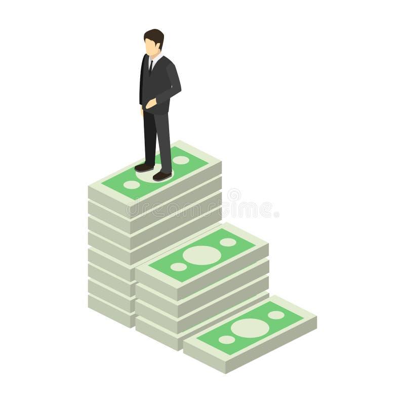 Trappa som göras av pengar royaltyfri illustrationer