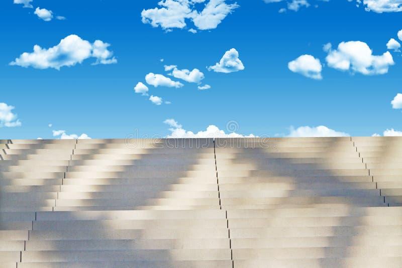 Trappa till himmel fotografering för bildbyråer