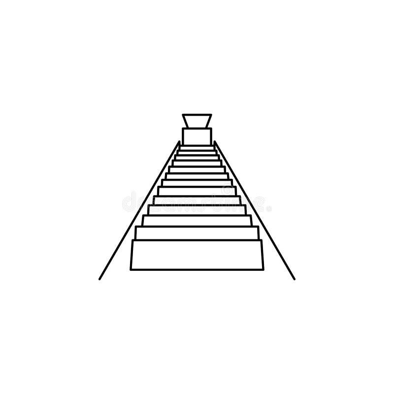 Trappa till källaresymbolen Trappa i vår livsymbol Högvärdig kvalitets- grafisk design Tecken symbolsamling, enkel symbol för w royaltyfri illustrationer