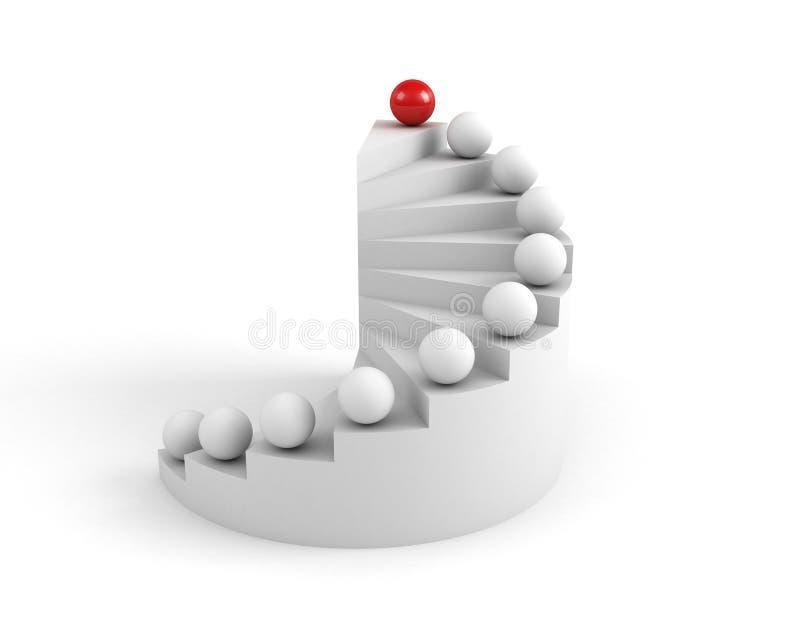 trappaframgång till stock illustrationer