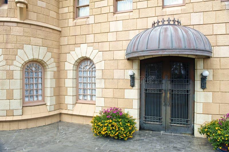 Trappe à château-comme la construction photos libres de droits