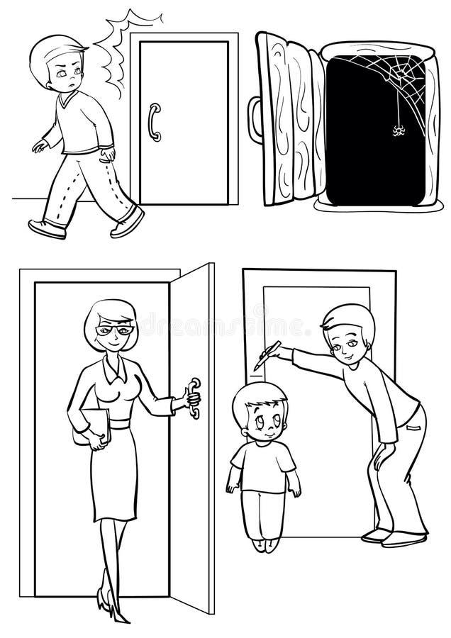 Trappe illustration libre de droits