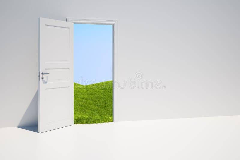 Trappe avec la zone d'herbe illustration libre de droits