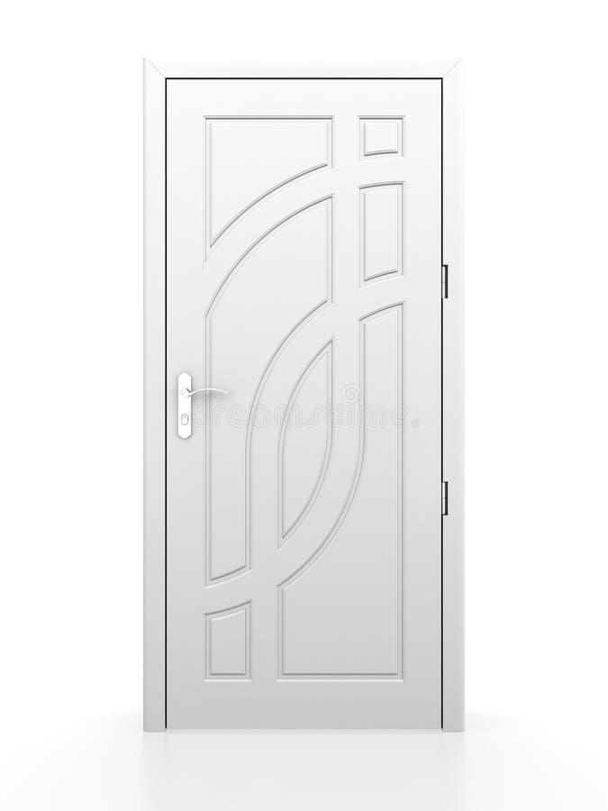 Trappe blanche illustration de vecteur