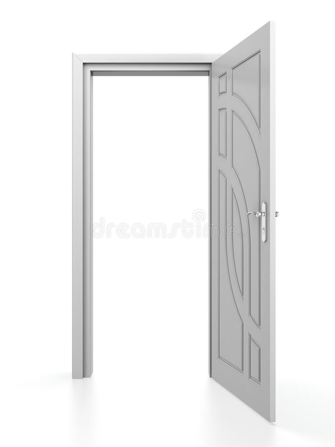 Trappe blanche illustration stock