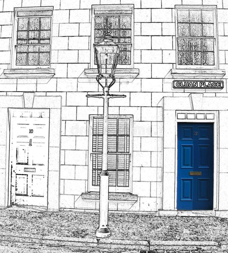 Trappe bleue illustration stock