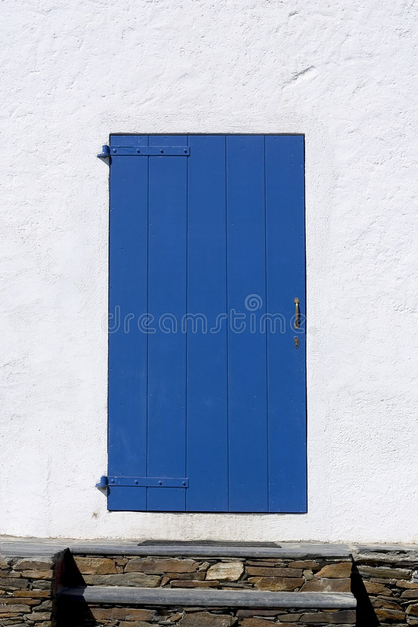Trappe bleue images stock