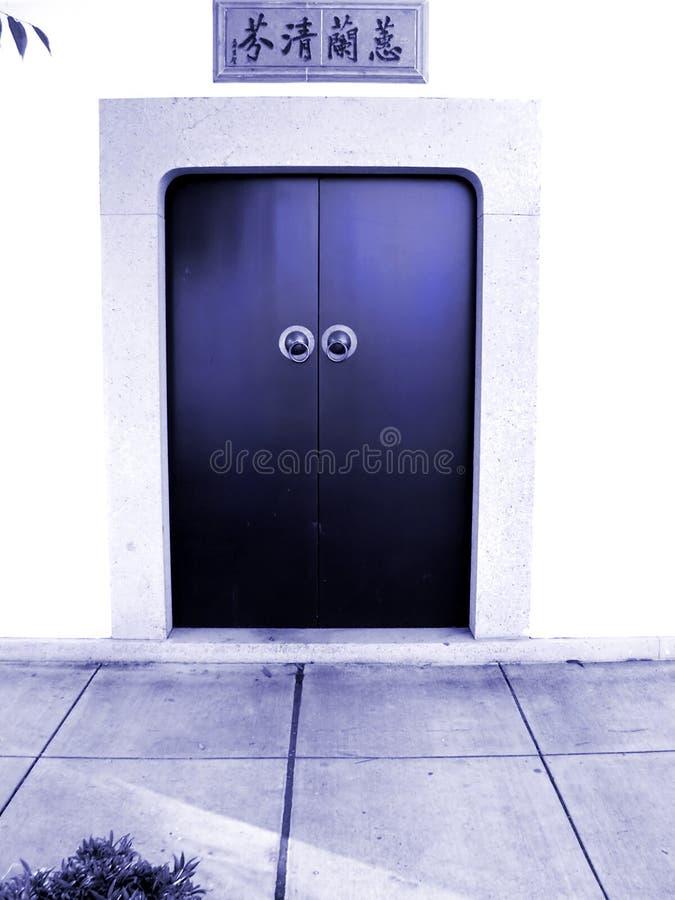 Trappe bleue de zen images stock