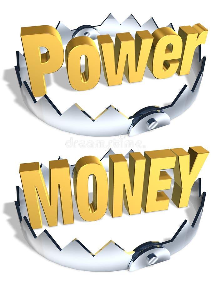 Trappe d'argent de pouvoir illustration libre de droits