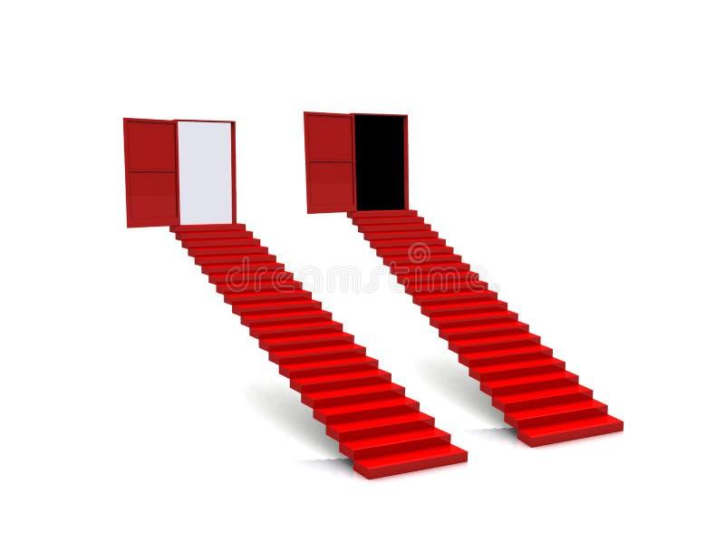 Trappe d'escalier d'opérations illustration stock