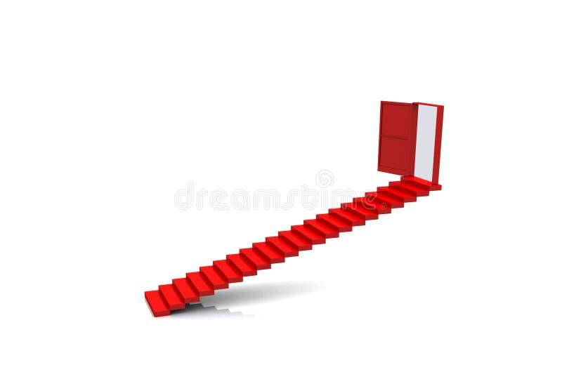 Trappe d'escalier d'opérations illustration libre de droits