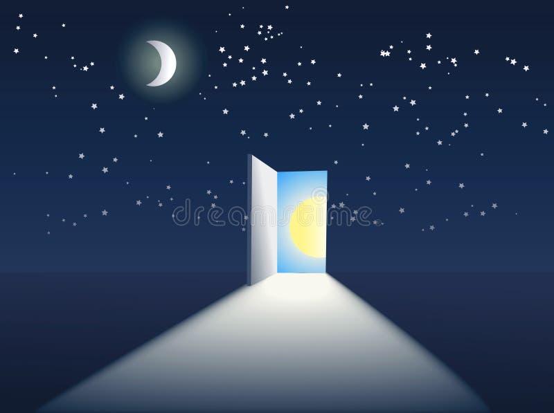 Trappe dans le ciel illustration libre de droits
