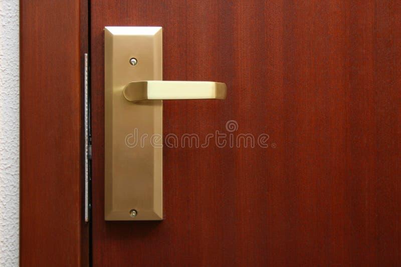Trappe de chambre d'hôtel images stock