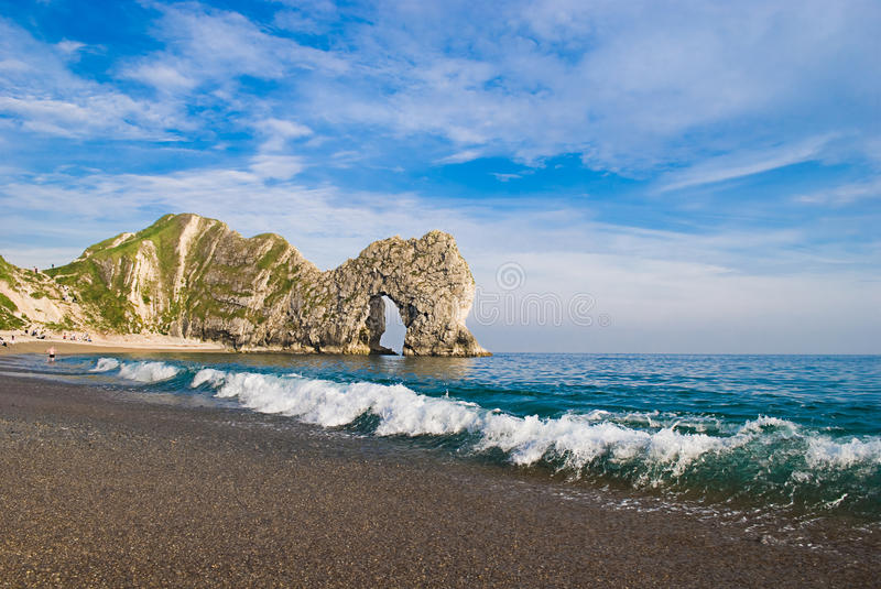 Trappe de Durdle, Dorset. photo stock