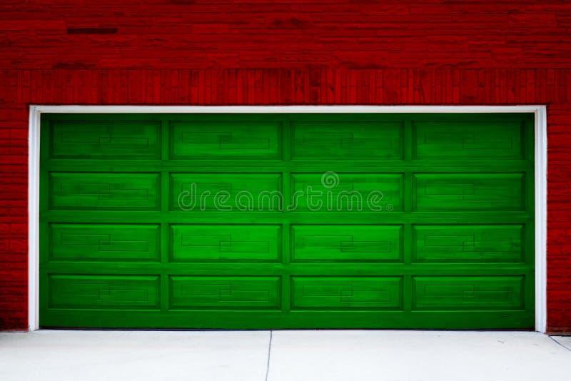 Trappe de garage de vacances image stock
