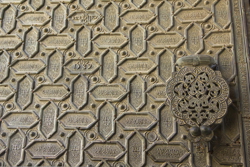 Trappe de la cathédrale-mosquée de Cordoue images libres de droits