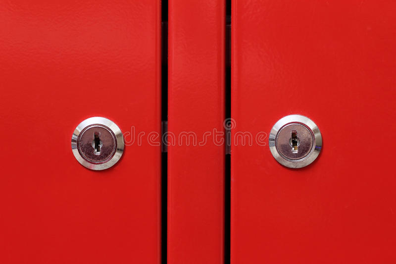 Trappe de module rouge photos stock