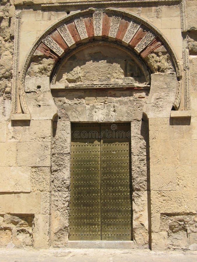 Trappe de mosquée de Cordoue complètement photo stock