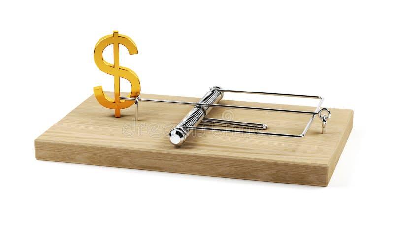 Trappe du dollar illustration libre de droits