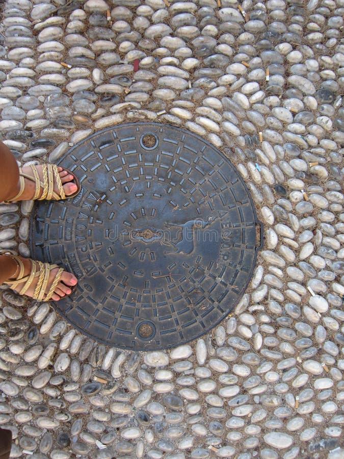 Trappe en Rhodes image libre de droits