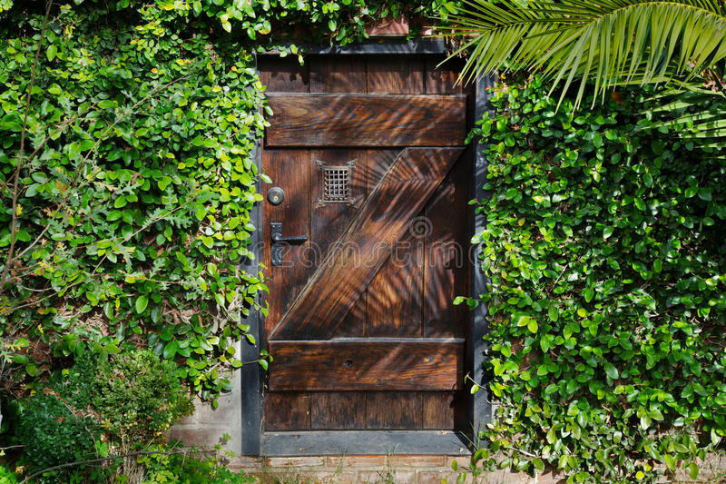 Trappe Horisontal de jardin secret image stock
