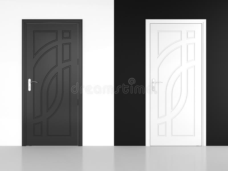Trappe noire et blanche illustration de vecteur