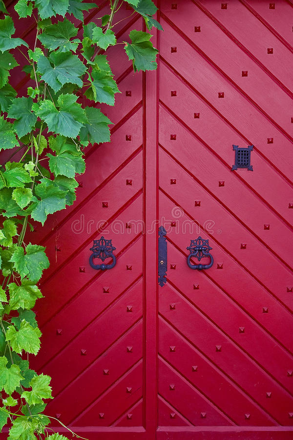 Trappe rouge photo stock