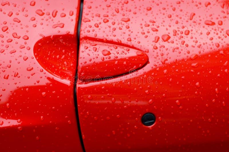 Trappe rouge de voiture de sport photos libres de droits