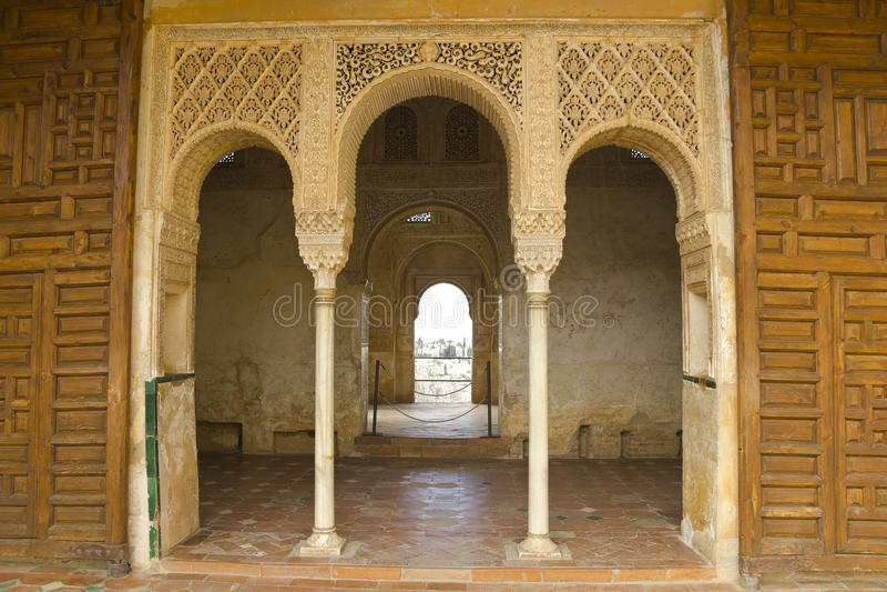 Trappe royale de Generalife. photos stock