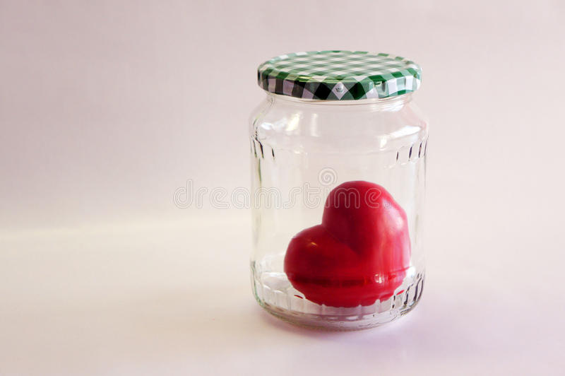 Trapped heart royalty free stock photography