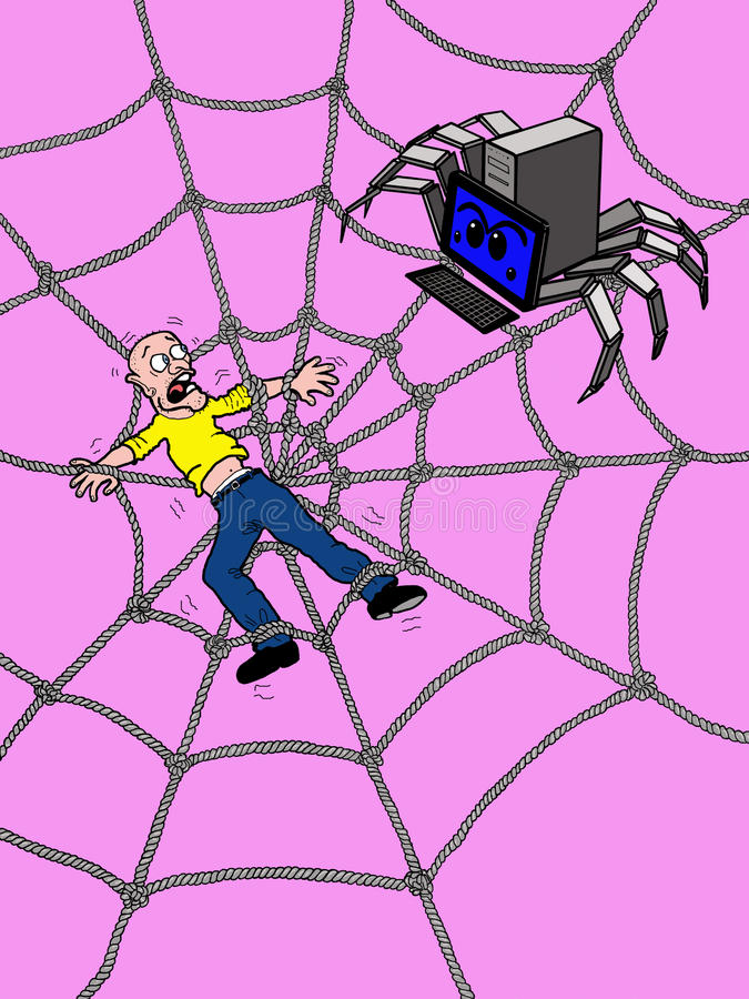 Trapped In The Web Royalty Free Stock Image