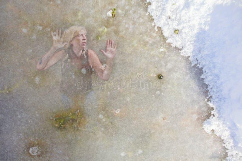 trapped woman στοκ εικόνες