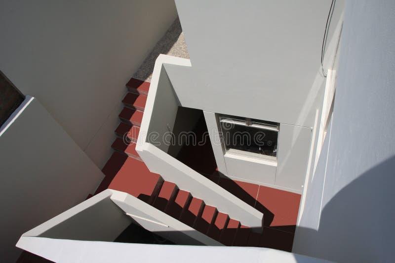 Trappenhuis bij de rug van een huis vector illustratie