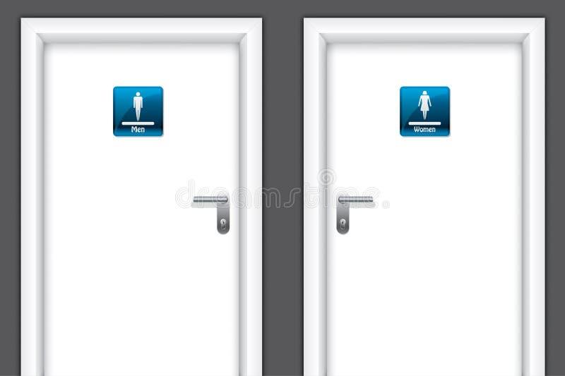 Trappes avec des symboles de toilettes illustration stock