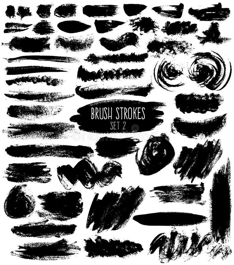 Download Trappes de brosse réglées illustration de vecteur. Illustration du irrégulier - 76081643