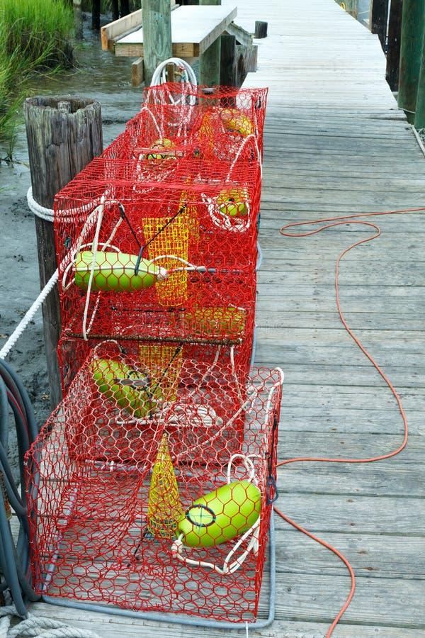 Trappes de crabe photos stock