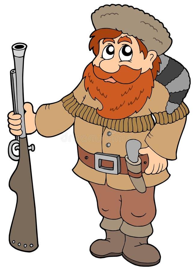 Trappeur de dessin animé illustration de vecteur
