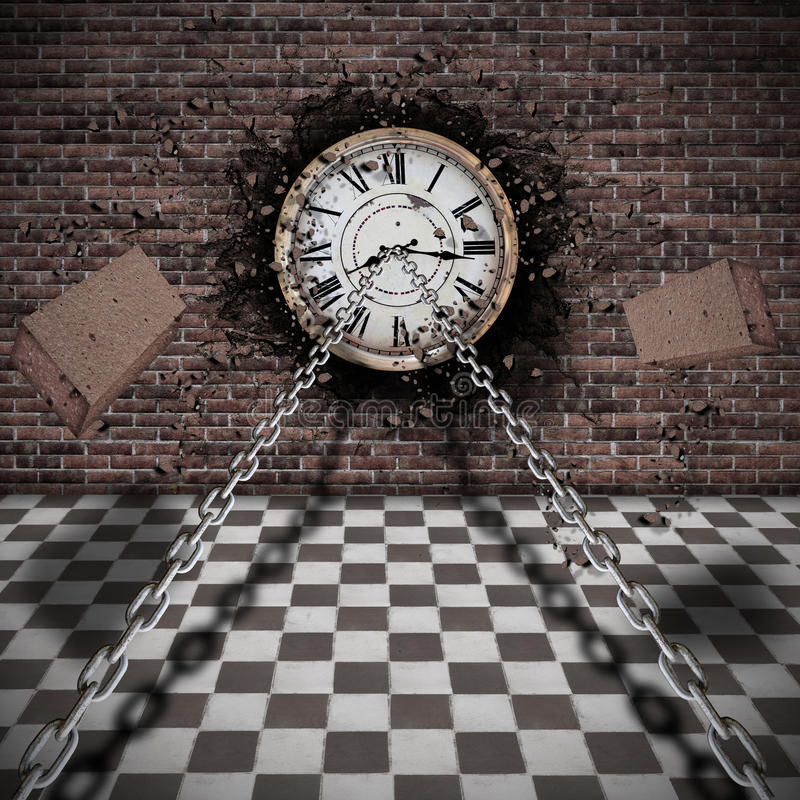 Download Trapping time stock illustration. Image of time, chains - 36587437