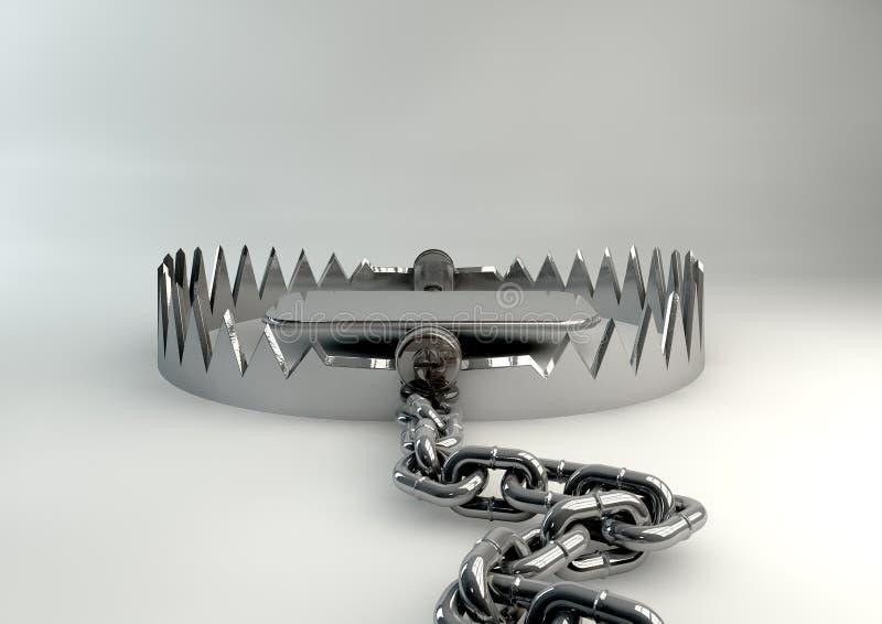 Trappola animale aperta fotografia stock libera da diritti