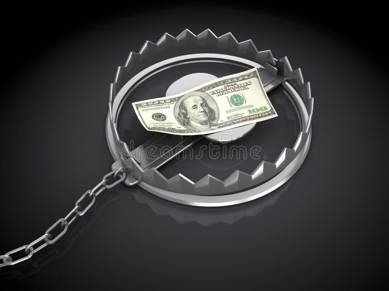 Trappola dei soldi illustrazione di stock