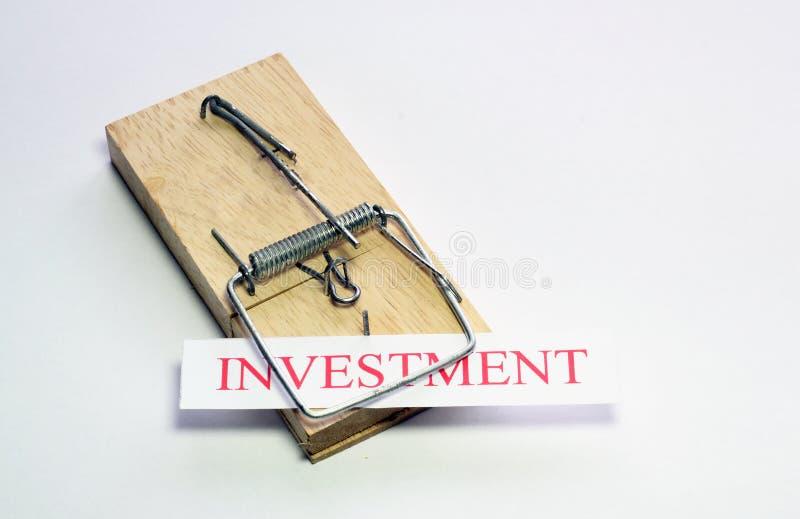Trappola di investimento. fotografia stock libera da diritti