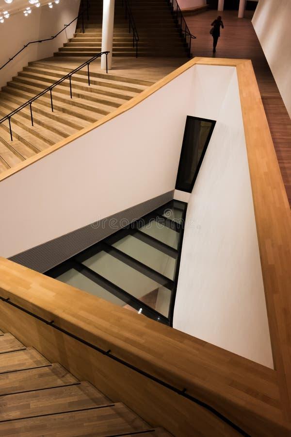 Trappuppgång till den stora korridoren arkivfoton