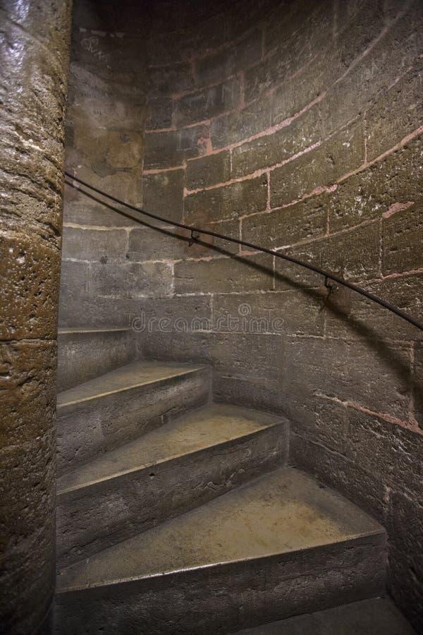 Trappuppgång upp Torre del Micalet i Valencia arkivbilder