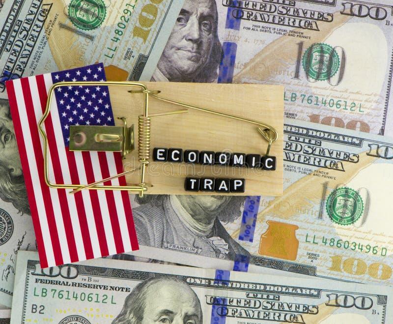 Traps on the economy stock photos