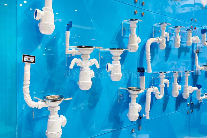 Traps for home plumbing stock images