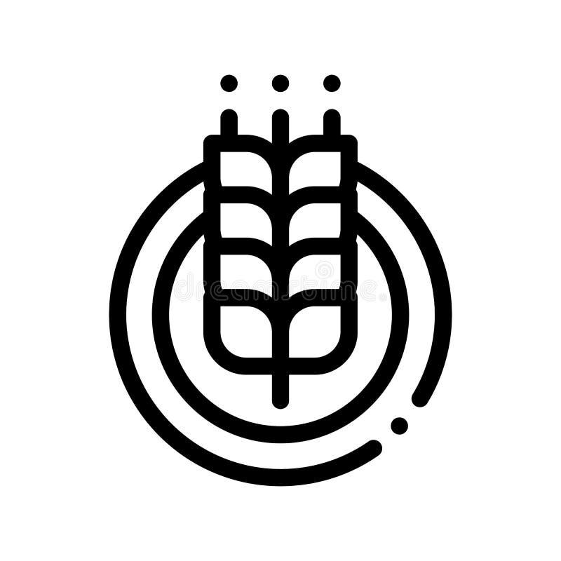 Traquet dans la ligne mince icône de vecteur rond de cadre illustration libre de droits
