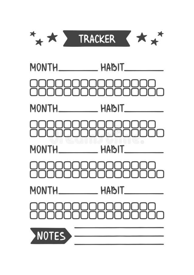 Traqueur d'habitude r illustration stock