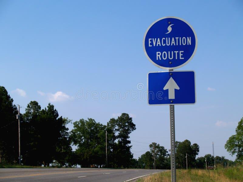 trasa ewakuacyjny huraganowy znak fotografia royalty free