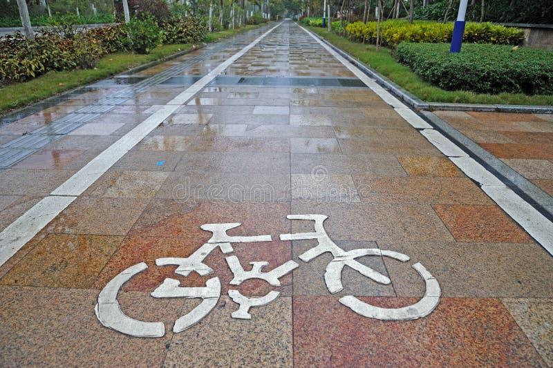 trasa rowerowy znak zdjęcie stock